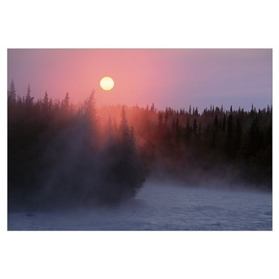 Sunrise over Kasilof River, Kasilof, Alaska Canvas Art