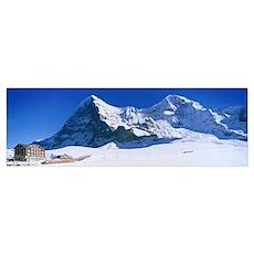Eiger Monch Kleine Scheidegg Switzerland Poster