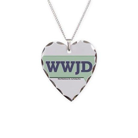 WWJD - What Would Jesus Do - Necklace Heart Charm