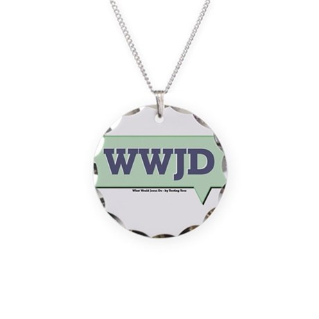 WWJD - What Would Jesus Do - Necklace Circle Charm