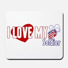 I Love My Soldier Mousepad