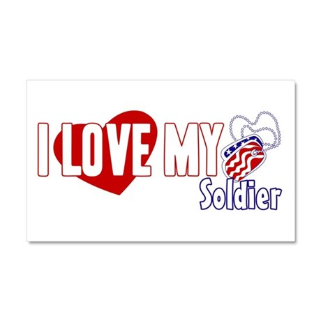 I Love My Soldier Car Magnet 20 x 12