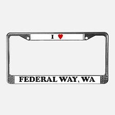 I Love Federal Way License Plate Frame