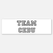 Team Cebu Bumper Bumper Bumper Sticker