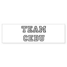 Team Cebu Bumper Bumper Sticker