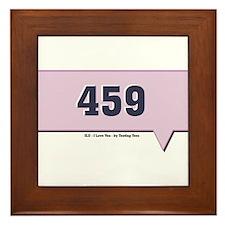 459 - ILU - I Love You Text M Framed Tile