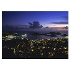 Charlotte Amalie St Thomas US Virgin Islands Poster