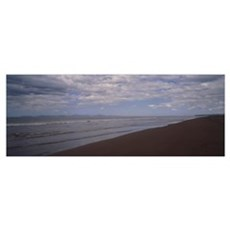 Water on the beach, Tarcoles Beach, Costa Rica Poster