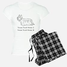 Skye Terrier. Custom Text Pajamas