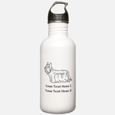 Skye Terrier. Custom Text Sports Water Bottle