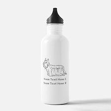 Skye Terrier. Custom Text Water Bottle