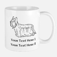 Skye Terrier. Custom Text Mug