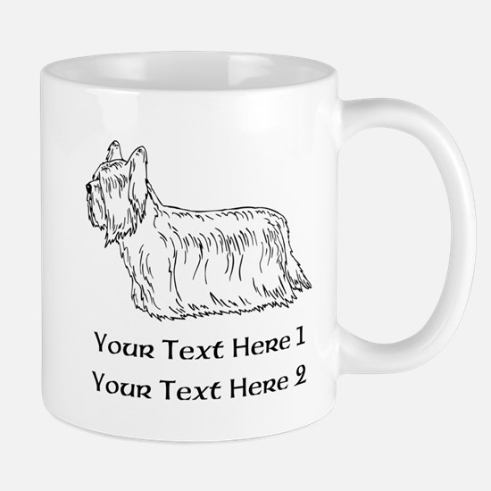 Skye Terrier. Custom Text Mug
