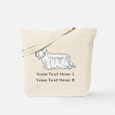 Skye Terrier. Custom Text Tote Bag