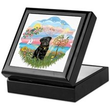 Angel Star-Black Pug #13 Keepsake Box
