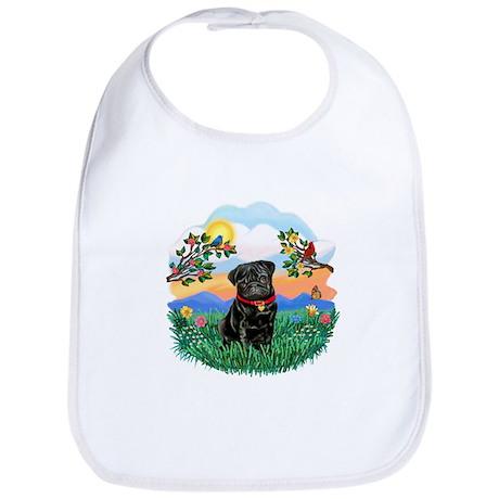 Bright Life - Black Pug #13 Bib