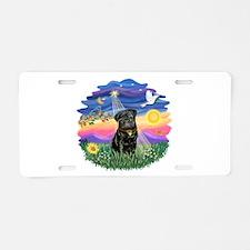 Twilight - Black Pug Aluminum License Plate