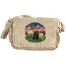 MagicalNight-Black Pug Messenger Bag