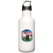MagicalNight-Black Pug Water Bottle