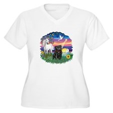 MagicalNight-Black Pug T-Shirt