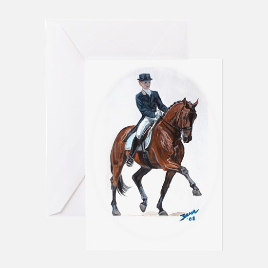 Dressage horse painting. Greeting Card