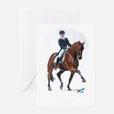 Dressage horse painting. Greeting Cards (Pk of 10)
