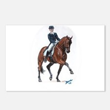 Dressage horse painting. Postcards (Package of 8)