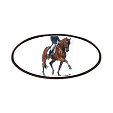 Dressage horse painting. Patches