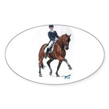 Dressage horse painting. Decal