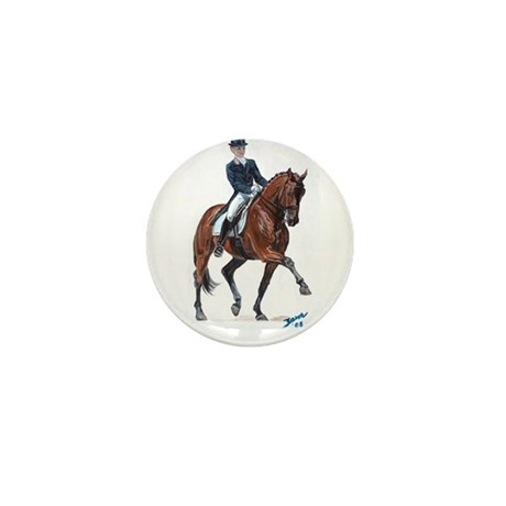Dressage horse painting. Mini Button (10 pack)