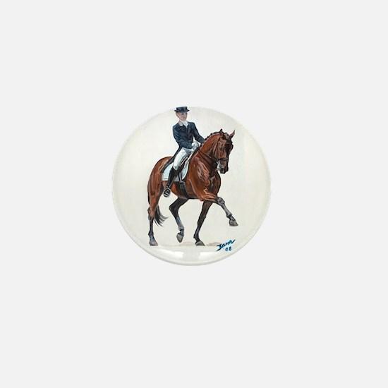 Dressage horse painting. Mini Button