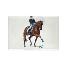 Dressage horse painting. Rectangle Magnet