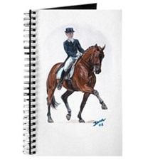 Dressage horse painting. Journal