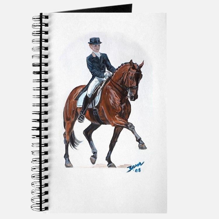 Dressage horse painting. Journal