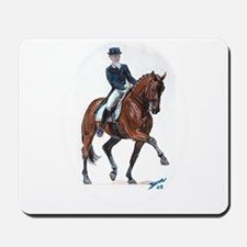 Dressage horse painting. Mousepad
