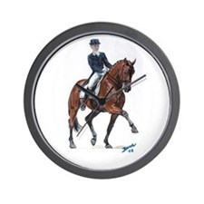 Dressage horse painting. Wall Clock