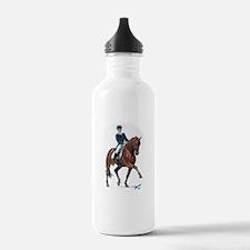 Dressage horse painting. Water Bottle