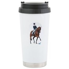 Dressage horse painting. Travel Mug