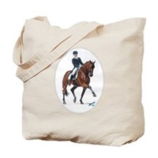 Dressage horse painting. Tote Bag