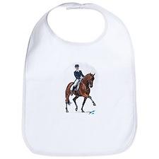 Dressage horse painting. Bib