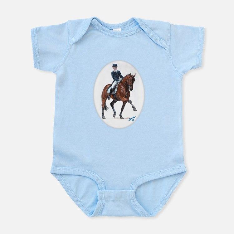 Dressage horse painting. Infant Bodysuit