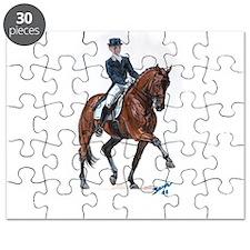 Dressage horse painting. Puzzle