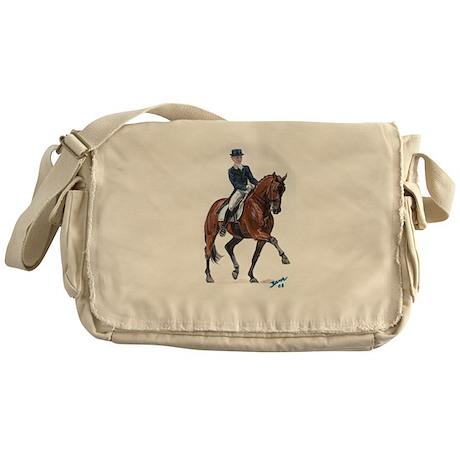 Dressage horse painting. Messenger Bag