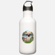 Garden Shore-Pug #17 Water Bottle