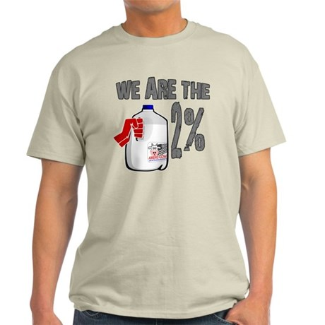 Occupy - We are the 2 % Milk Light T-Shirt