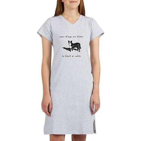 Border Collie Better Women's Nightshirt