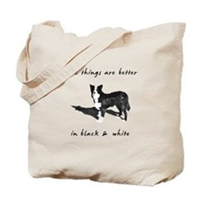 Border Collie Better Tote Bag