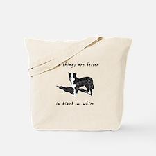Border Collie Better Tote Bag