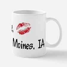 Kiss Me: Des Moines Mug