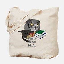 Custom Owl Graduate Tote Bag